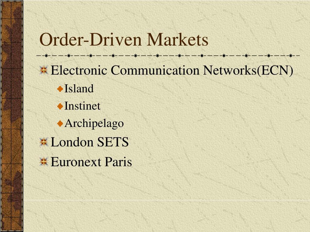 Order-Driven Markets