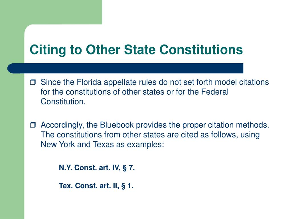 Citing to Other State Constitutions