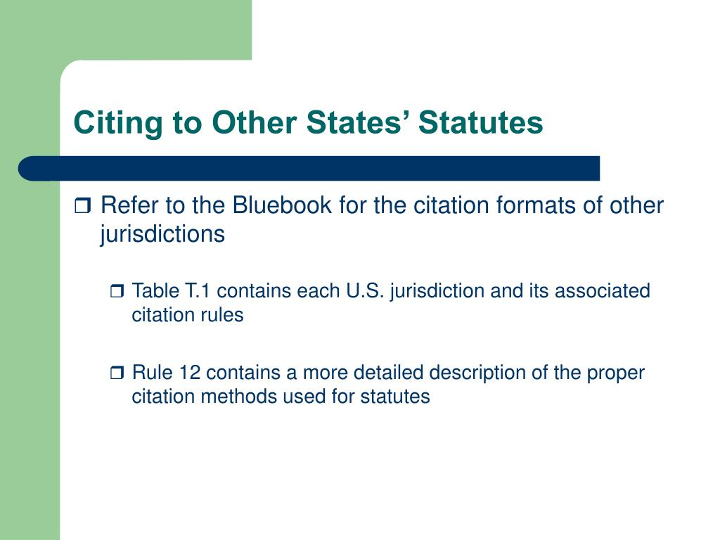 Citing to Other States' Statutes