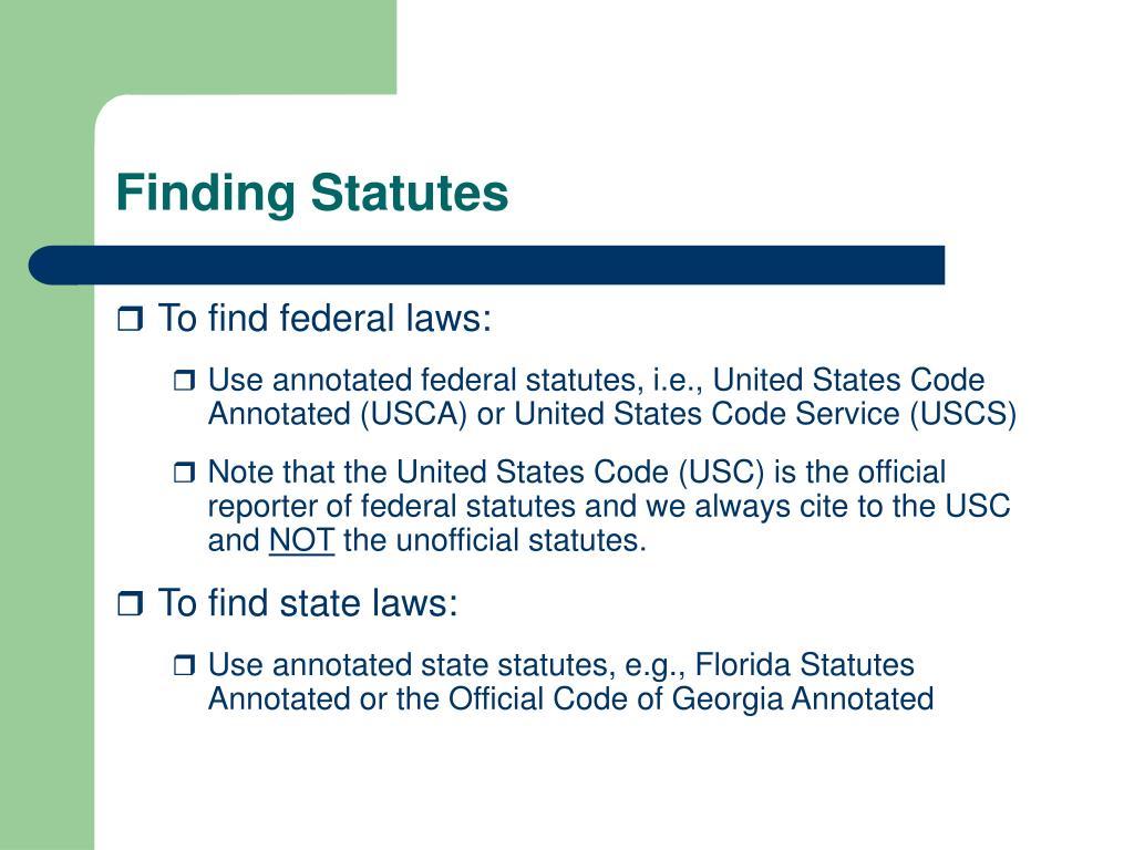 Finding Statutes