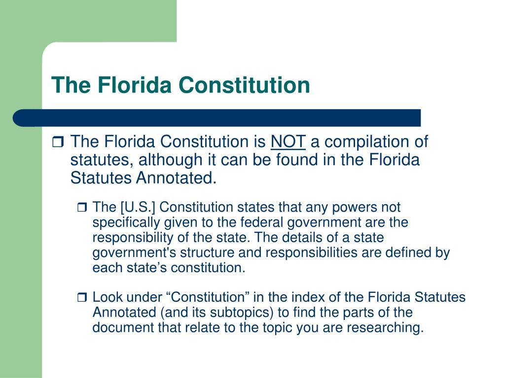 The Florida Constitution