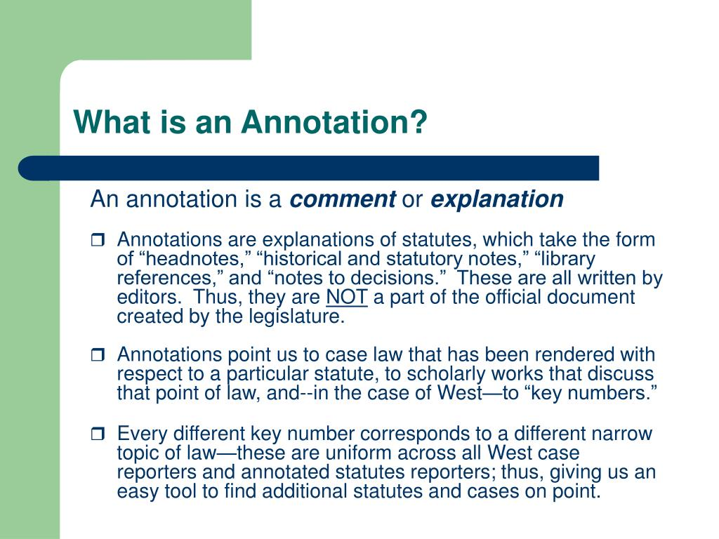 What is an Annotation?