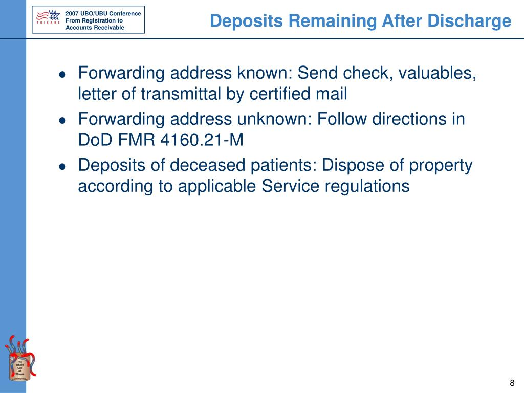 Deposits Remaining After Discharge