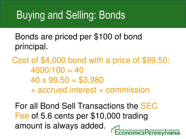 Buying and Selling: Bonds
