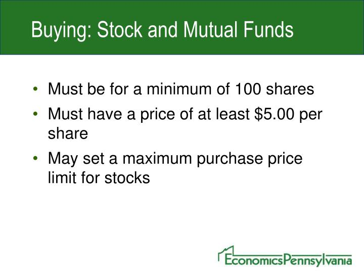 Buying: Stock and Mutual Funds