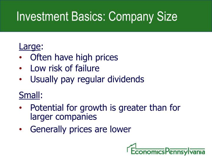 Investment Basics: Company Size