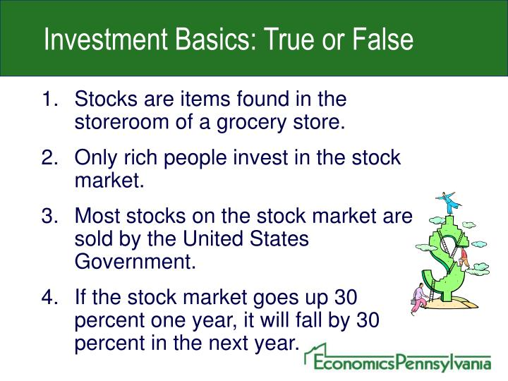 Investment Basics: True or False