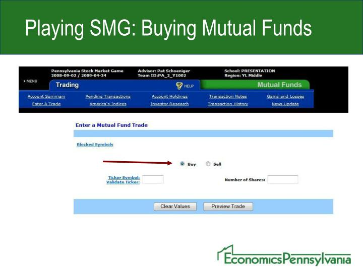 Playing SMG: Buying Mutual Funds