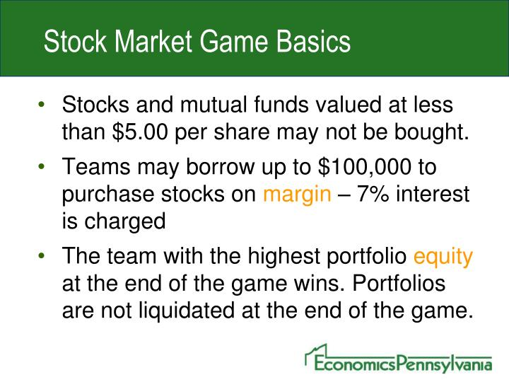 Stock Market Game Basics