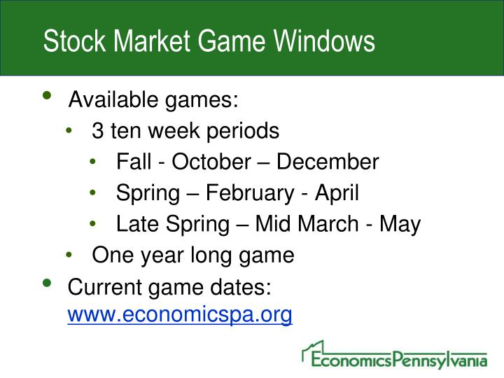 Stock Market Game Windows