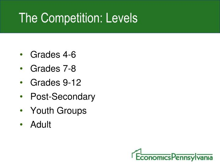 The Competition: Levels
