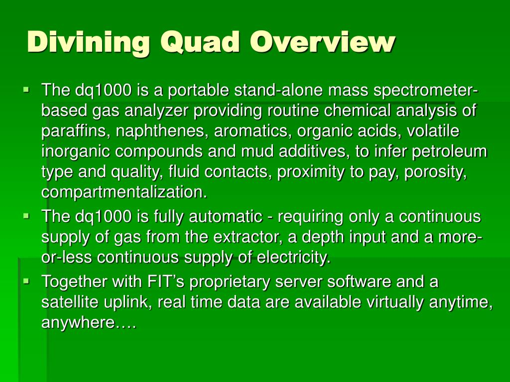 Divining Quad Overview