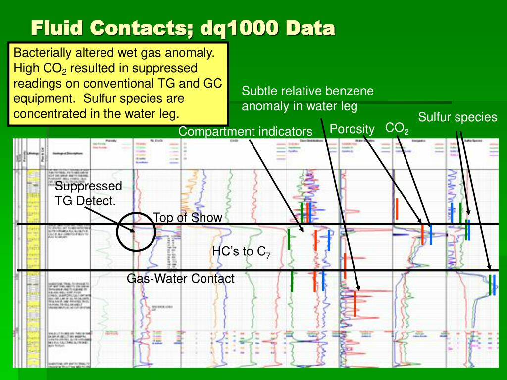 Fluid Contacts; dq1000 Data