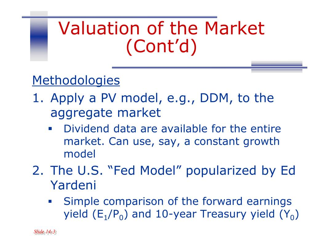 Valuation of the Market (Cont'd)