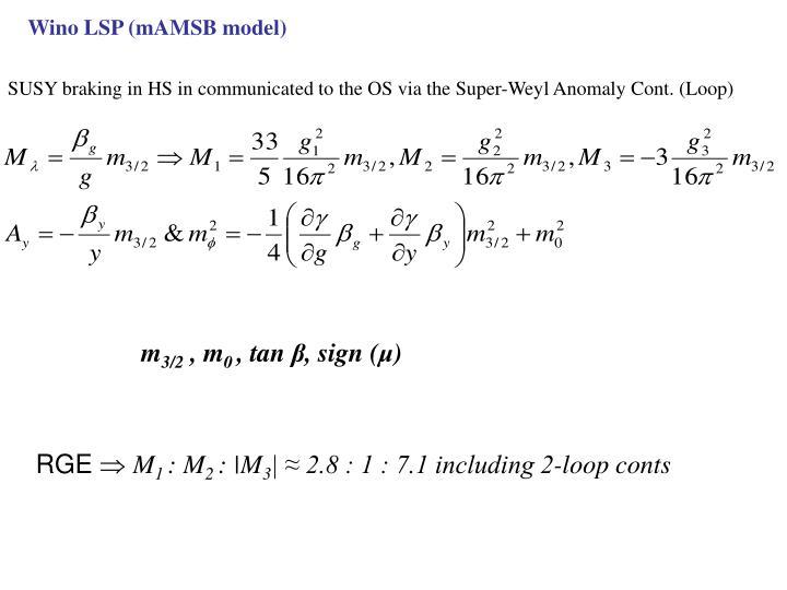 Wino LSP (mAMSB model)