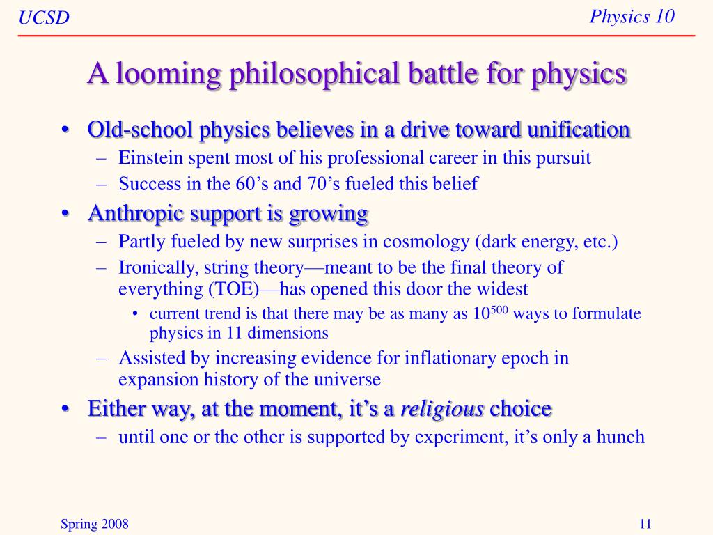 A looming philosophical battle for physics