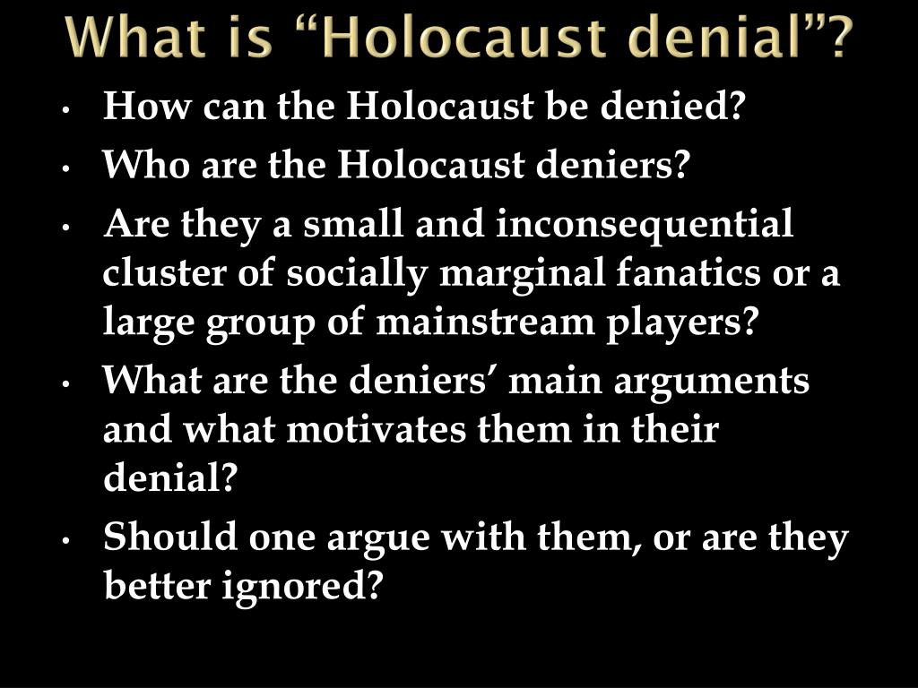 holocaust denial research paper Essays, term papers, book reports, research papers on religion free papers and essays on holocaust we provide free model essays on religion, holocaust reports, and term paper samples related to holocaust.