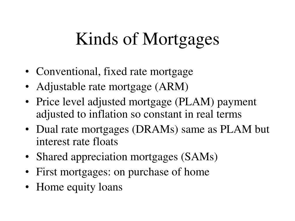 Kinds of Mortgages