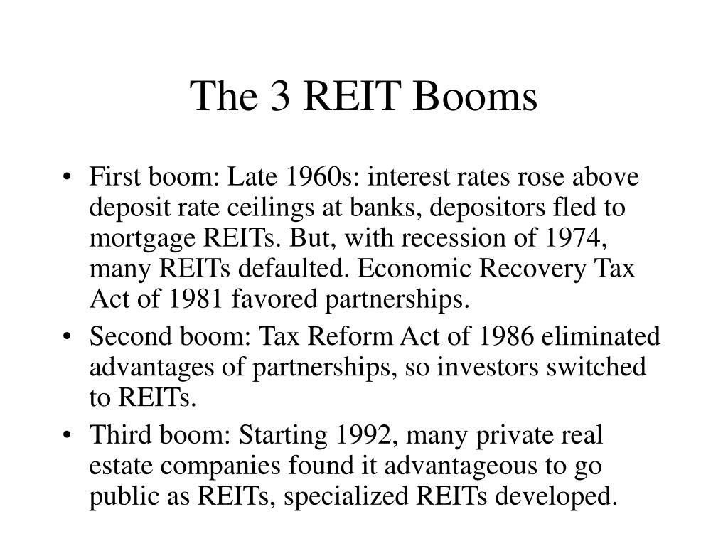 The 3 REIT Booms