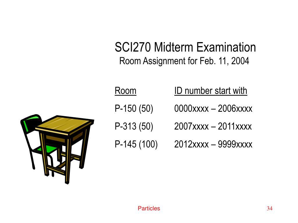 SCI270 Midterm Examination