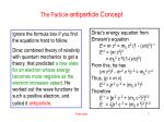 the particle antiparticle concept