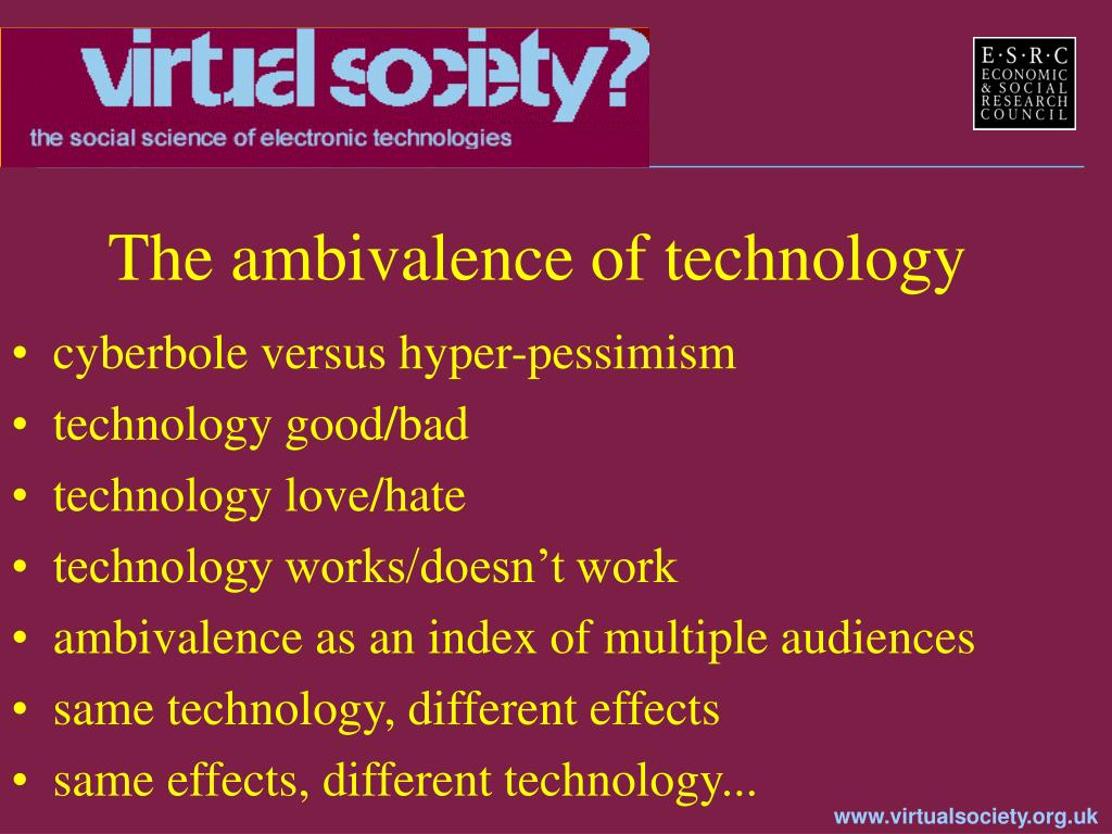 The ambivalence of technology