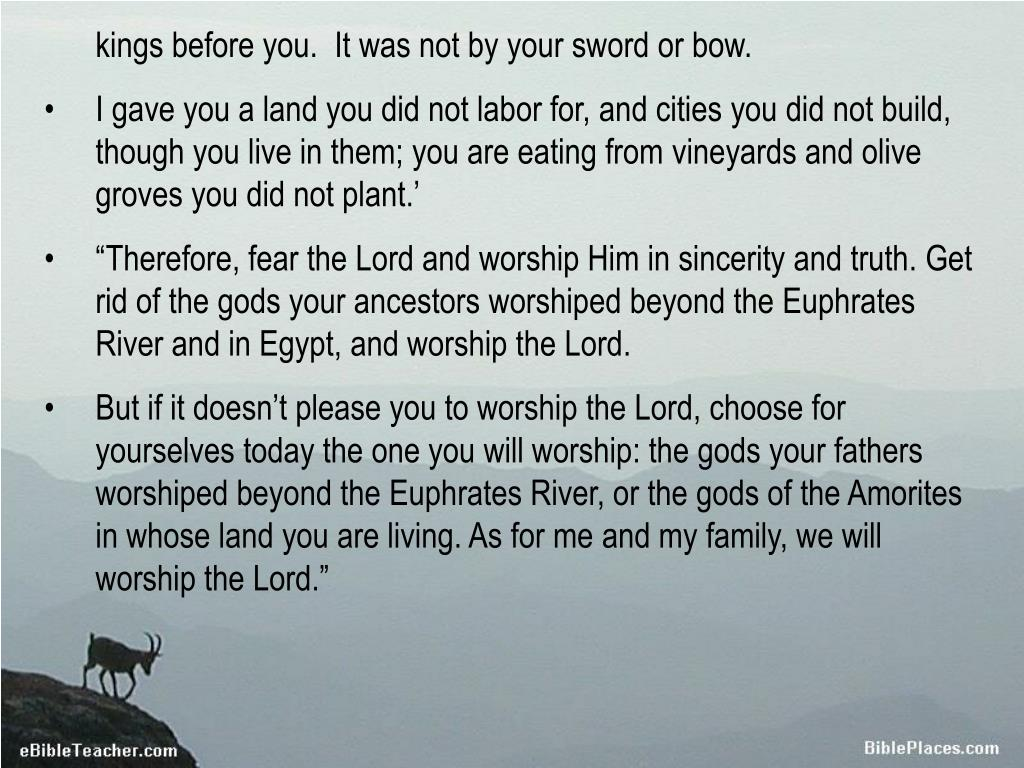 kings before you.  It was not by your sword or bow.