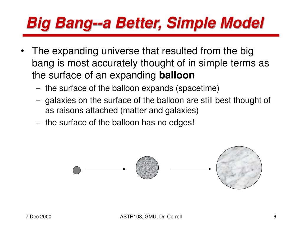 Big Bang--a Better, Simple Model