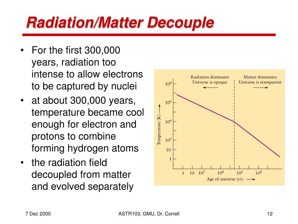 Radiation/Matter Decouple