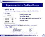 implementation of building blocks