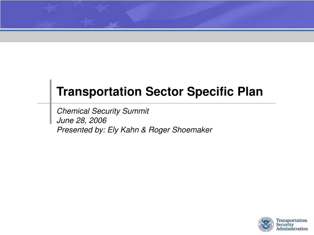 transportation sector specific plan