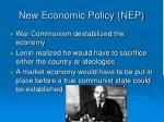 new economic policy nep