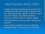 new economic policy nep26