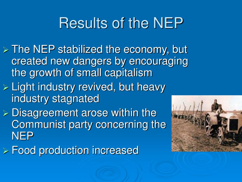 Results of the NEP
