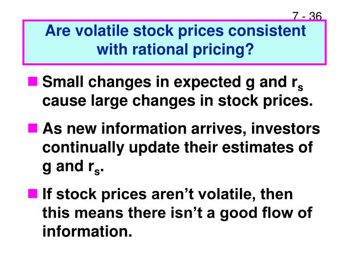 Are volatile stock prices consistent with rational pricing?