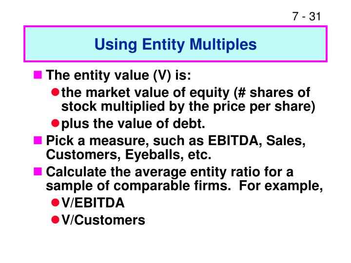 Using Entity Multiples