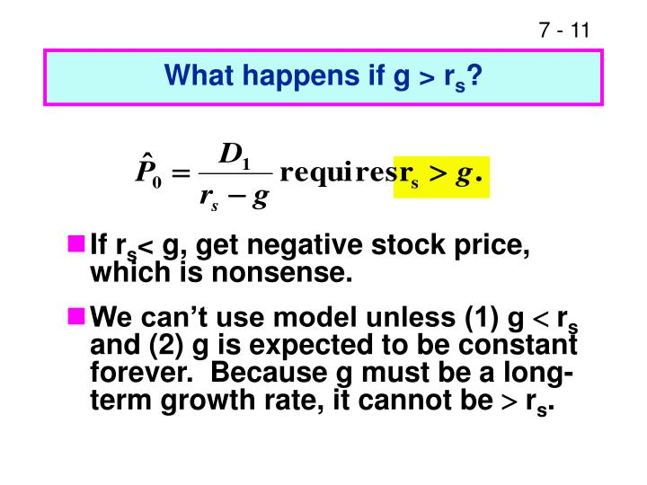 What happens if g > r