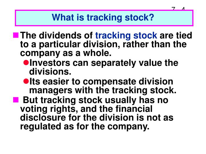 What is tracking stock?