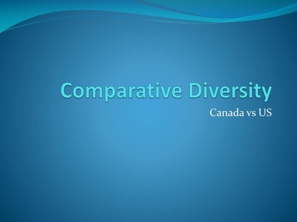 Comparative Diversity