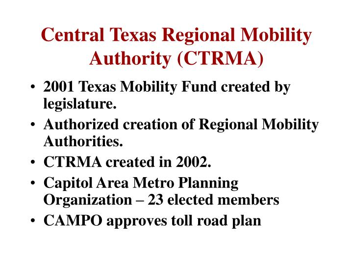 Central Texas Regional Mobility Authority (CTRMA)
