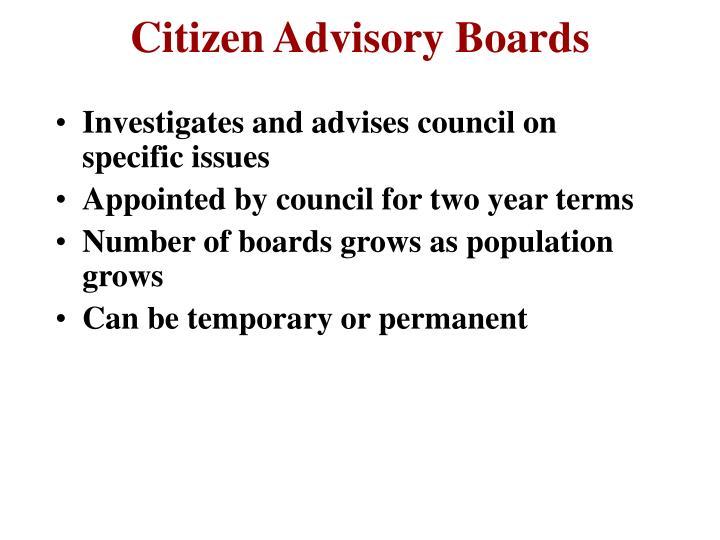 Citizen Advisory Boards
