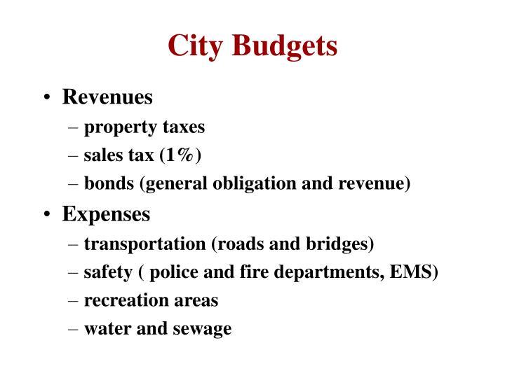 City Budgets