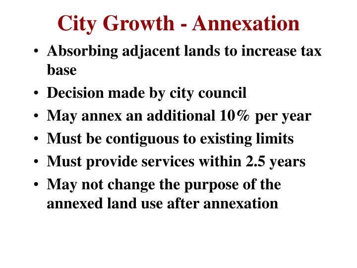 City Growth - Annexation