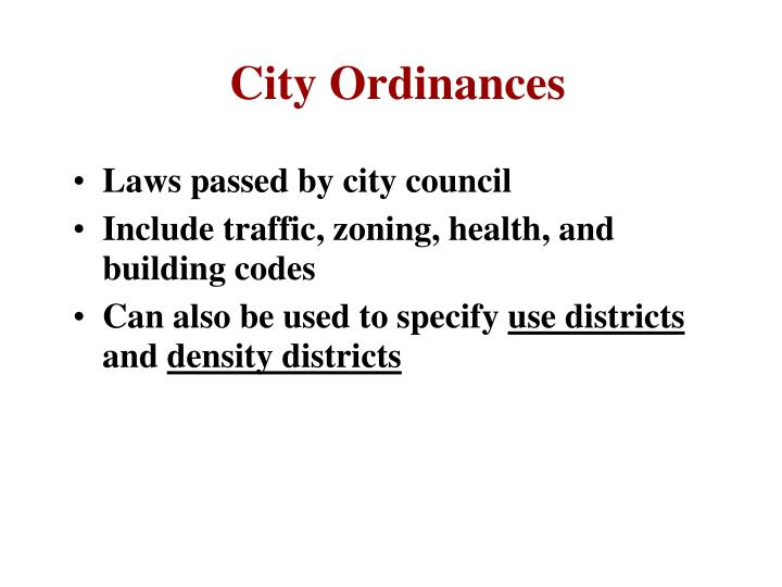 City Ordinances