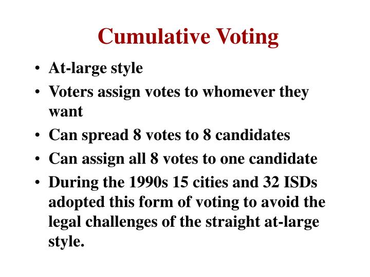 Cumulative Voting
