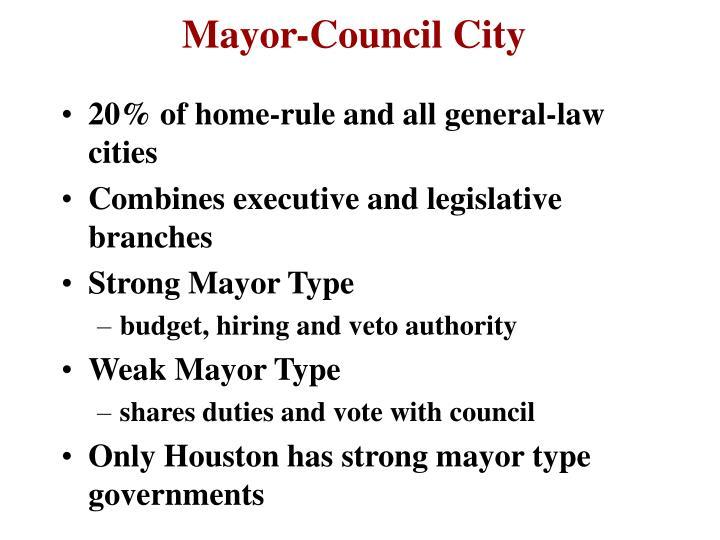 Mayor-Council City