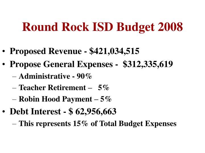 Round Rock ISD Budget 2008