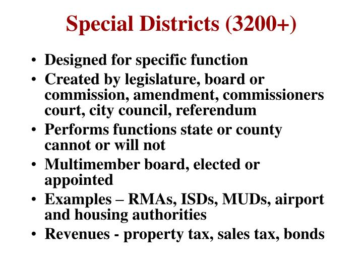 Special Districts (3200+)