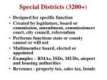 special districts 3200