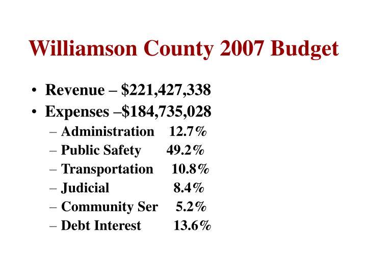 Williamson County 2007 Budget
